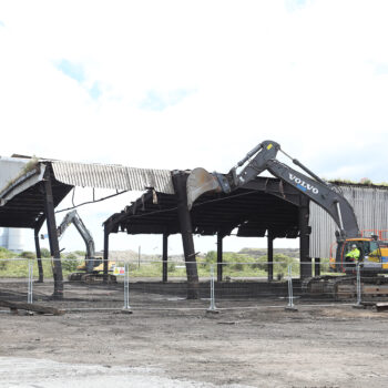 3 - Mayor Houchen kicking-off the Ferro Manganese shed demolition in July 2020
