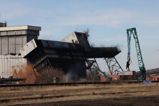 Mayor Pushes Button On Explosive Demolition Of Teesworks' Coal Handling Facility